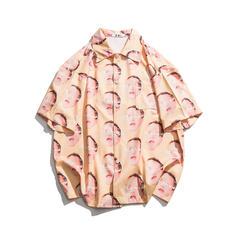 Heren Print Hawaiiaans Strand shirts