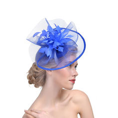 Ladies ' Elegant Kambriske med Fjer Fascinators/Tea Party Hats