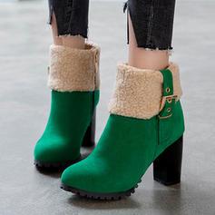 Kvinner Semsket Stiletto Hæl Ankelstøvler med Spenne Glidelås sko