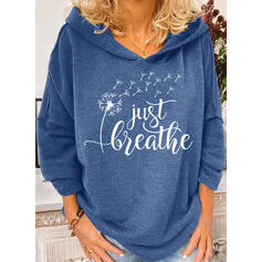 Print Figure Dandelion Long Sleeves Hoodie