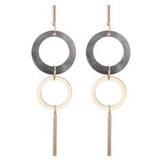 Fashionable Shell Copper Ladies' Fashion Earrings