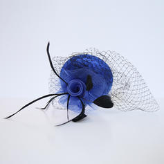 Ladies' Glamourous/Elegant/Exquisite Feather/Net Yarn With Feather Fascinators/Tea Party Hats