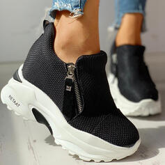 Women's Cloth Mesh Casual Outdoor With Zipper shoes