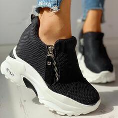 Femmes Tissu Mesh Décontractée De plein air avec Zip chaussures