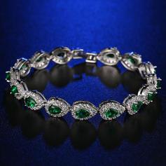 Chic Platine plaqué avec Zircon de Dames Bracelets de mode