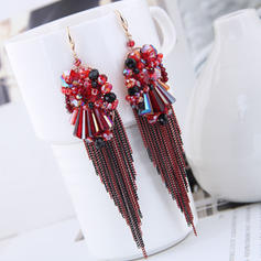 Stylish Crystal Copper Women's Fashion Earrings (Set of 2)