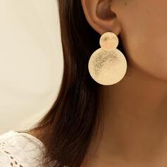 Elegant Round Alloy Earrings (Set of 2)
