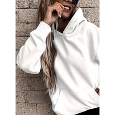 Solid Long Sleeves Hoodie