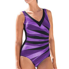 Splice color Strap Sexy One-piece Swimsuits