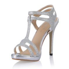 Femmes Pailletes scintillantes Talon stiletto Sandales Escarpins avec Boucle chaussures