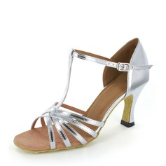 Women's Latin Heels Leatherette With T-Strap Latin