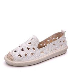 Femmes Similicuir Chaussures plates Bout fermé avec Ouvertes chaussures