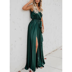 Solid Sleeveless A-line Maxi Casual/Vacation Dresses