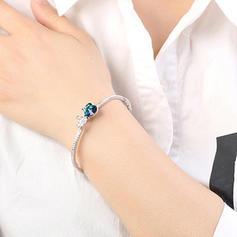 Bow en forme Alliage Cristal avec Imitation cristal Bracelets de mode (Vendu dans une seule pièce)