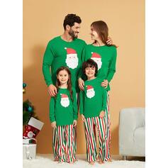 Santa Striped Print Family Matching Christmas Pajamas