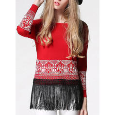 Patchwork Round Neck Ugly Christmas Sweater