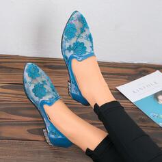 Femmes Dentelle Talon plat Chaussures plates avec Couture dentelle chaussures