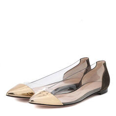 Women's PVC Flat Heel Flats With Others shoes