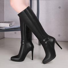 Keinonahasta Piikkikorko Knee saappaat jossa Vetoketju kengät