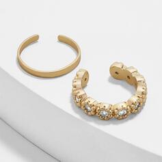 Charming Hottest Alloy Zircon With Zircon Earrings (Set of 2)