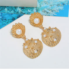 Simple Alloy Imitation Pearls Women's Earrings