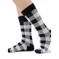 Plaid Comfortable/Christmas/Crew Socks/Family Matching/Unisex Socks