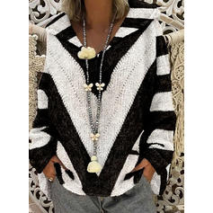 Color Block Striped Hooded Sweaters
