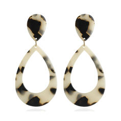 Stylish Leopard Alloy Acrylic Women's Earrings