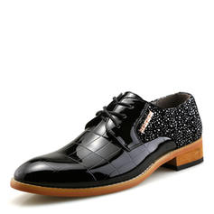 Lace-up Dress Shoes Patent Leather Men's Men's Oxfords