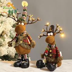 Christmas Reindeer Doll Light Cloth Holiday Decoration