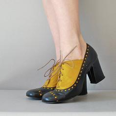 Kvinner PU Stor Hæl Pumps med Blondér sko
