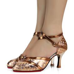 Women's Latin Heels Microfiber Leather Latin