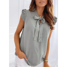 PolkaDot Round Neck Sleeveless Casual Elegant Tank Tops