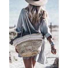 Ριγέ Μακρυμάνικο Αμάνικο Πάνω Από Το Γόνατο Καθημερινό/Διακοπές Сукні