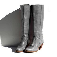 Vrouwen PU Chunky Heel Laarzen Knie Lengte Laarzen met Gesp schoenen