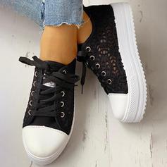 De mujer Lona Casual al aire libre con Encaje Cordones zapatos