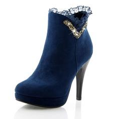 Dla kobiet Skóra ekologiczna Obcas Stiletto Czólenka Platforma Zakryte Palce Kozaki Botki obuwie