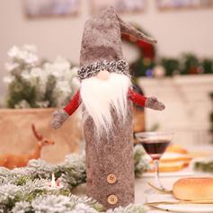 Гном щасливого Різдва Неткане полотно Різдвяний декор Кришка пляшки