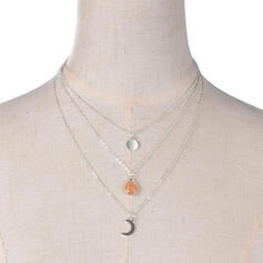 Hottest Layered Alloy With Coin Necklaces (Set of 3)