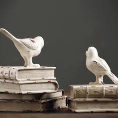 Décontractée Résine Oiseau Serre-livres
