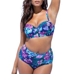 Floral Sangle Élégante Bikinis Maillots de bain
