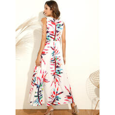 Print Sleeveless A-line Skater Casual/Vacation Midi Dresses