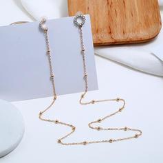À la mode Alliage Strass De faux pearl avec Perle d'imitation Strass Femmes Boucles d'oreille de mode (Lot de 2)