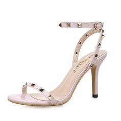 Femmes Similicuir Talon stiletto Sandales Escarpins avec Rivet chaussures