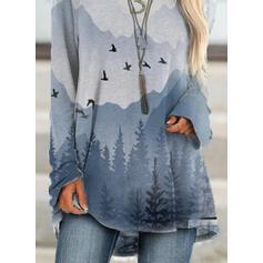 Forest Round Neck Long Sleeves Sweatshirt