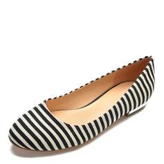 Frauen Stoff Flascher Absatz Flache Schuhe Schuhe