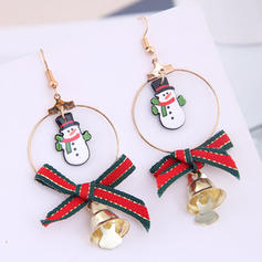 Snowman Cloth Alloy Earrings Christmas Jewelry