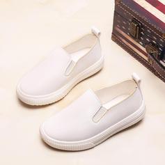 Unisex Leatherette Flat Heel Closed Toe Loafers & Slip-Ons Flats