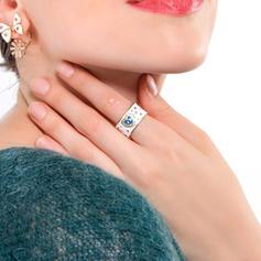 De moda cobre con Rhinestone De mujer Anillos