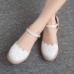 Femmes Similicuir Talon bas Sandales avec Boucle Ouvertes chaussures